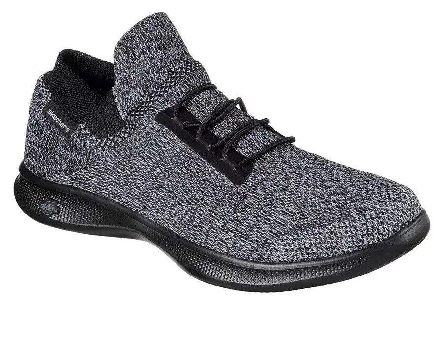 Womens SKECHERS GO STEP LITE - INGENIOUS Ultra Sock Sock Sock Black Grey Uk6 19eb37