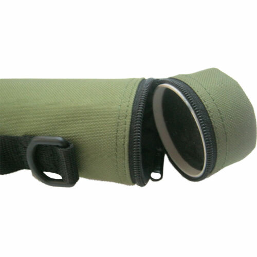 Aventik Hard Cordura Fishing Rod Travel green Tube Rod Case with Carry Straps
