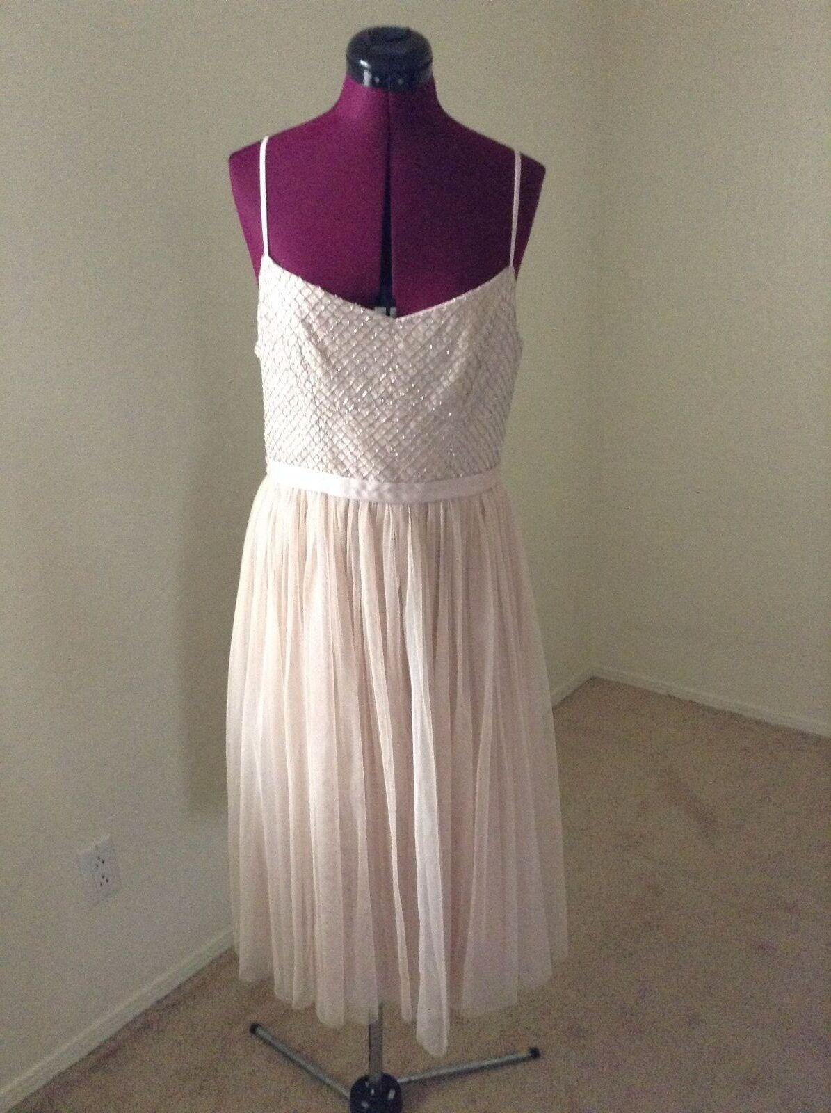 NEW Needle & Thread  260 Coppelia Ballet Embellished Tulle DressblueshSz 10