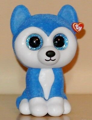 Ty Beanie Boos Mini Boo SLUSH Husky Dog Hand Painted Vinyl Collectible Figurine