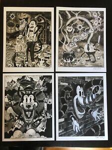 8-5x11-Set-3-Signed-prints-By-Frank-Forte-Pop-Surrealism-Cartoon-Dark-Art