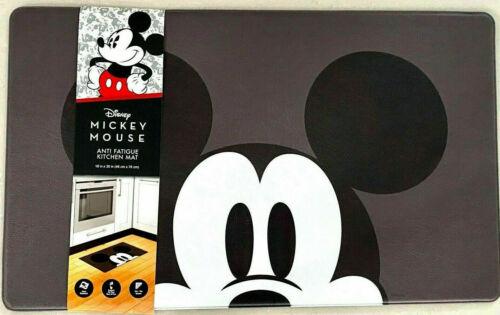 Rugs Carpets Disney Mickey Mouse Anti Fatigue Cushioned Padded Kitchen Mat 18x30 Black Gray Door Mats Floor Mats
