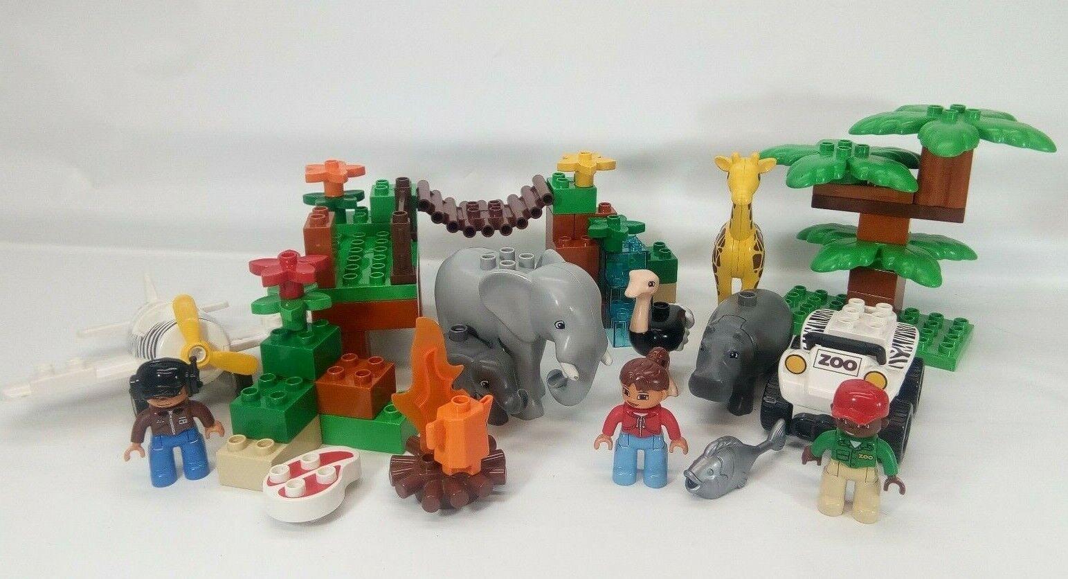 Lego Duplo  Town Pcalienteo Safari 6156 - 90% completare hippo elephants ostrich giraffe  più preferenziale
