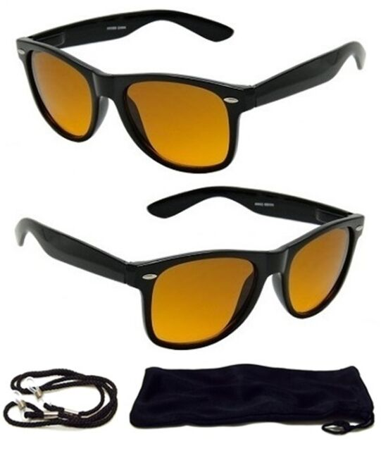 3281d4245daf2 HD Driving Aviator SunGlasses Golf Vision Blue Blocker Lens High Definition  NEW