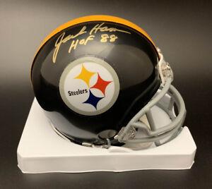 f0807df78 Image is loading Jack-Ham-SIGNED-Pittsburg-Steelers-Mini-Helmet-HOF-