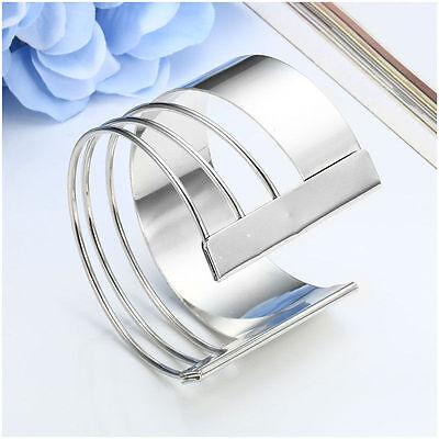 Fashion Lots Style Women Gold Silver Bangle Punk Bracelet Charm Cuff Jewelry