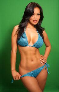 Hot 11x17 Poster Red Thong Bikini Pool Brunette Naughty S01 D5525