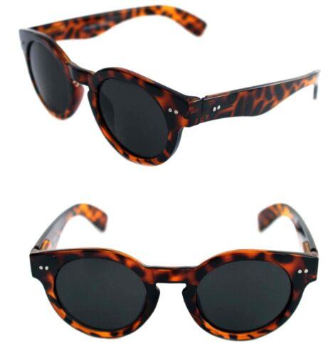 Men/'s Women/'s Thick Round Shape Sunglasses Keyhole Brown Tortoise Retro 80/'s