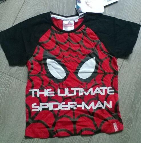 boys girls black t shirt top Spider-Man Spiderman Age 3  6  NEW  Marvel