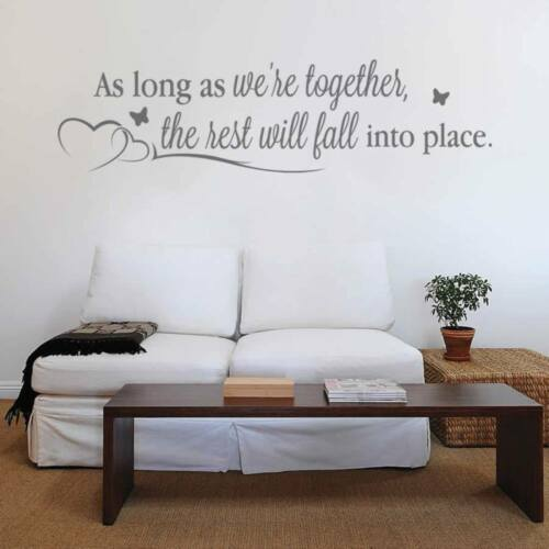 As Long as We/'re Together Wall Sticker Wall Chick Decal Art Sticker Quote