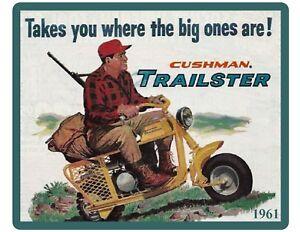 1961 Cushman Trailster Motor Scooter Refrigerator Tool Box Magnet