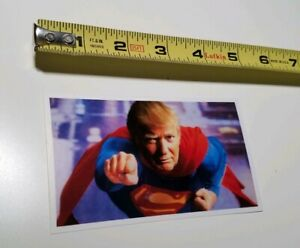 Funny Donald Trump Political Sticker Depicted As Superman Marvel Dc Comics Ebay