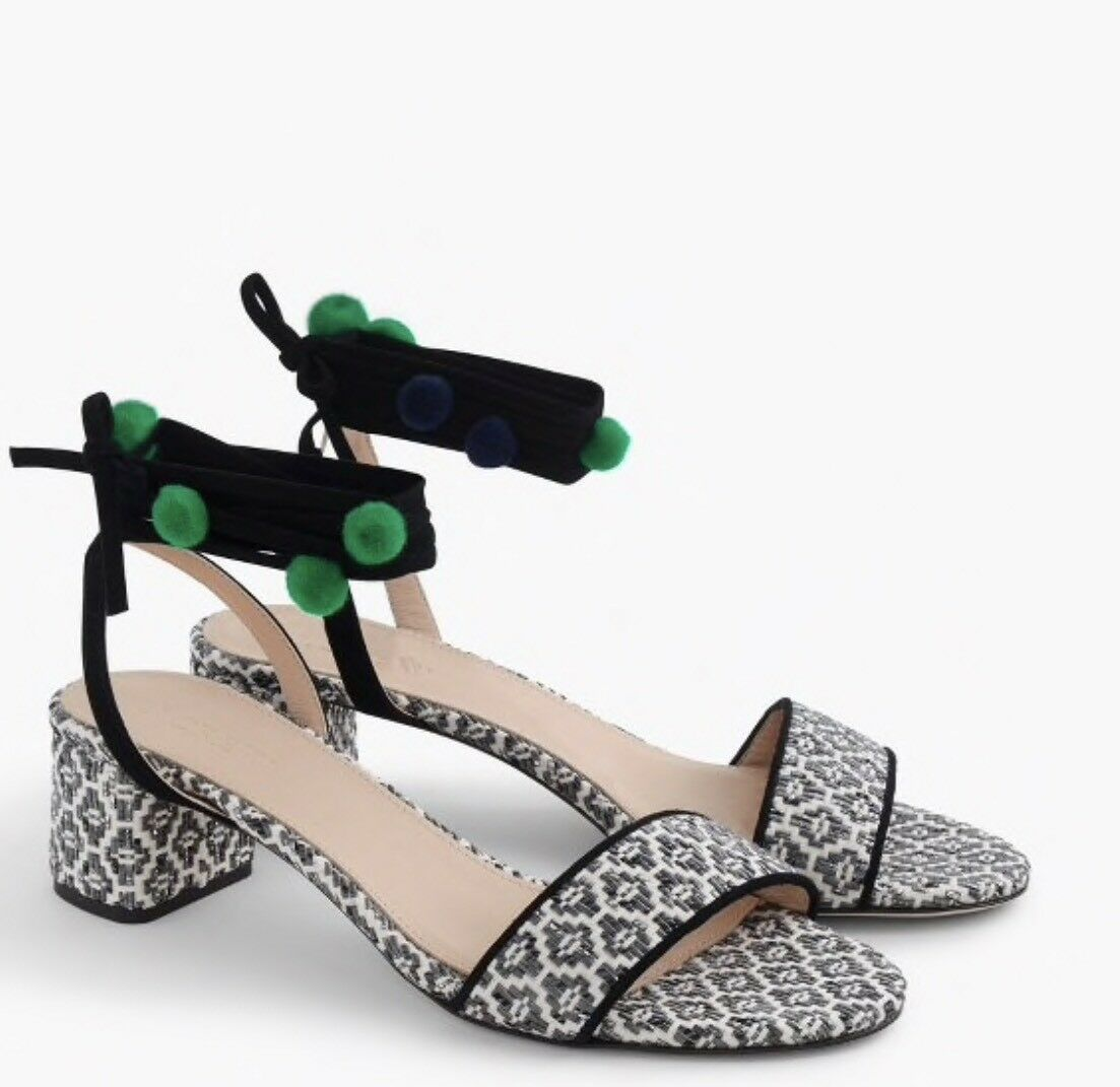 J CREW IKAT ANKLE-WRAP SANDAL SZ.10.5 NEW NEW NEW  G4213 ITALY 9def94