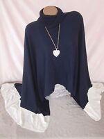 White House Black Market Poncho Sweater Long Coverup Wrap Size M