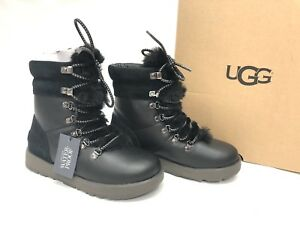 fb3df8d2fe8 Details about UGG Australia VIKI WATERPROOF EXPOSED SHEARLING LACE UP Boot  1017493 Black sz 6