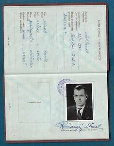 Yugoslavia-FNRJ-1961-Travel-document-issued-in-Bosnia-Sarajevo-visas-to-Turkey