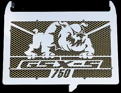 Cache radiateur//Grille de radiateur INOX Poli pour 1000 GSX-S Grillage Anti gravillon Rouge