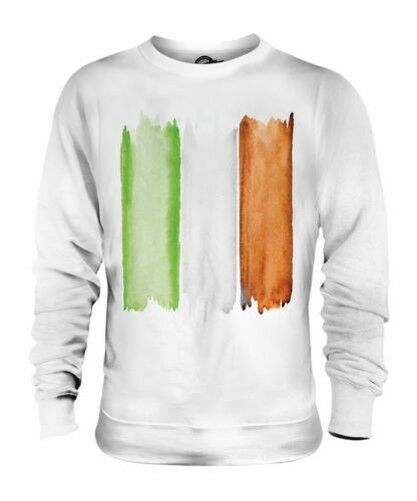 IRELAND FLAG WATERCOLOUR UNISEX FASHION PRINT SWEATER IRISH EIRE FOOTBALL RUGBY