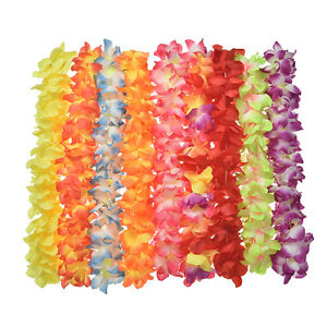 Hawaiian leis simulated silk flower leis party dance fancy dress image is loading hawaiian leis simulated silk flower leis party dance mightylinksfo