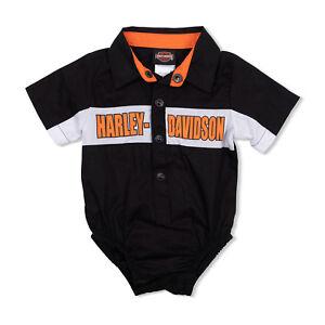 331be2ac926 Image is loading Harley-Davidson-Infant-Newborn-Baby-amp-Kid-Black-