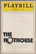 "Harold Pinter Playbill ""The Hothouse"" FLOP 1982"