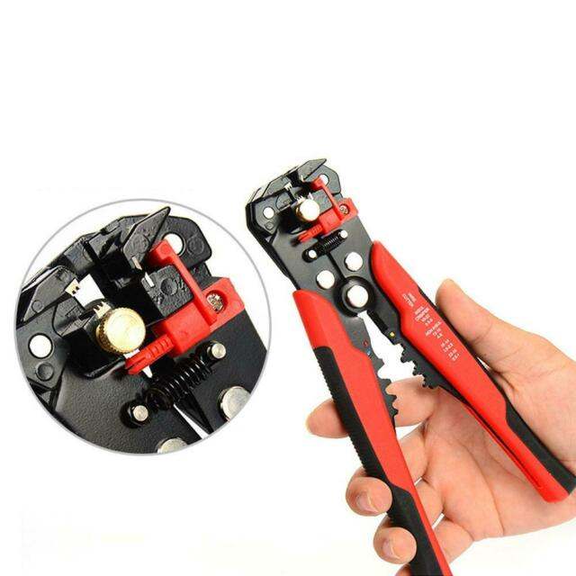 3 in 1 Automatic Cable Wire Stripper crimping plier Self Adjusting Crimper NI5L