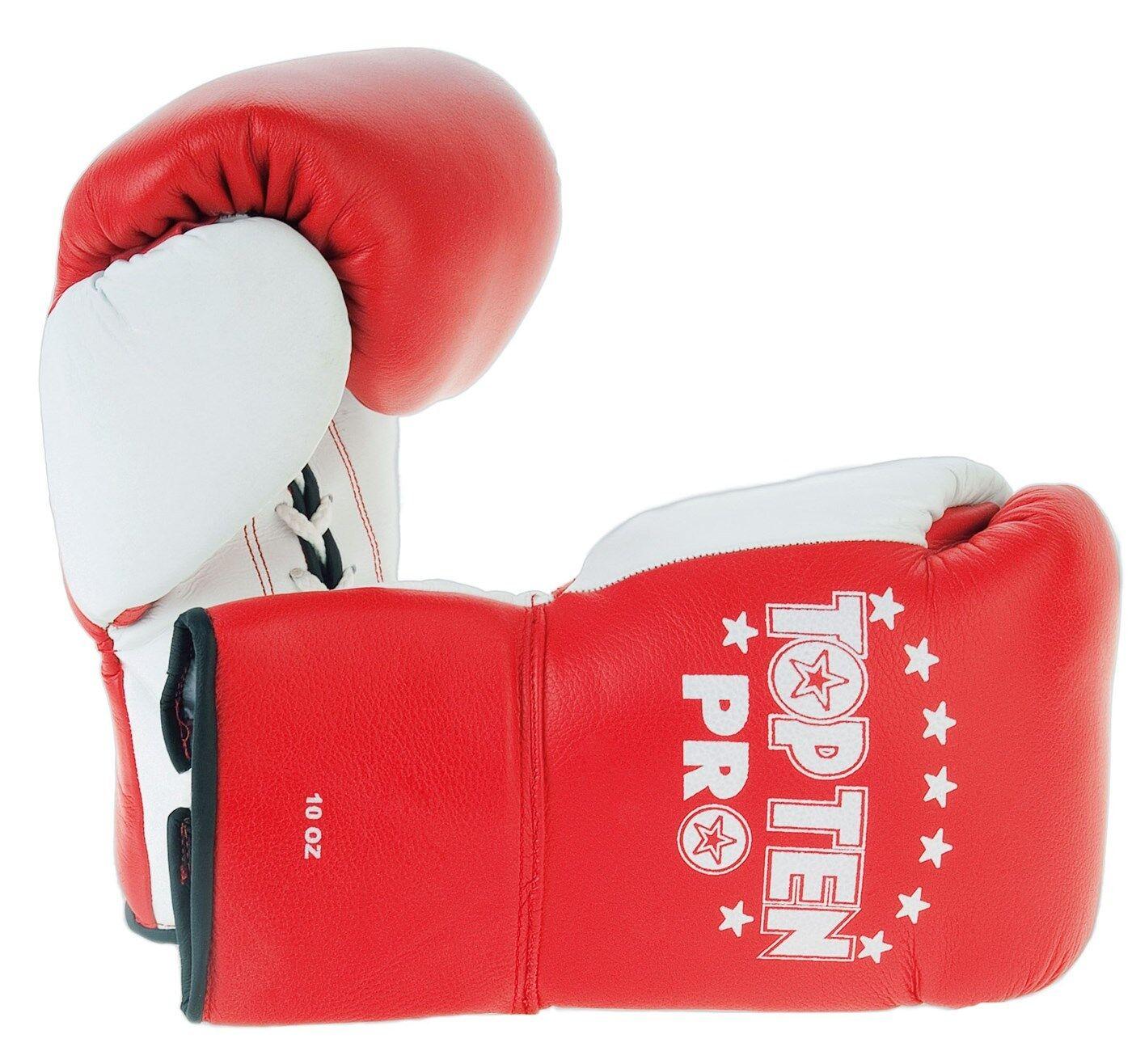 Boxhandschuh TOP TEN PRO. 10oz. Kickboxen. Boxen. Muay Thai. 3 Farben. Wettkampf