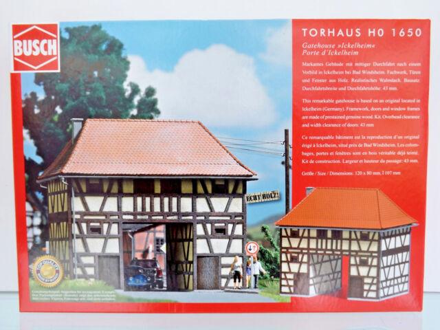 Busch 1650-H0 Kit Construcción - Casa Del Guarda Ickelheim - Nuevo en Emb. Orig.
