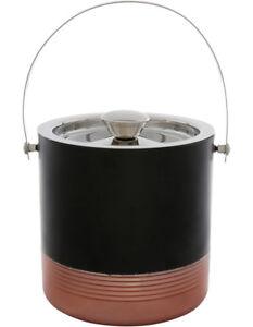 NEW Vue Black/Copper Ice Bucket