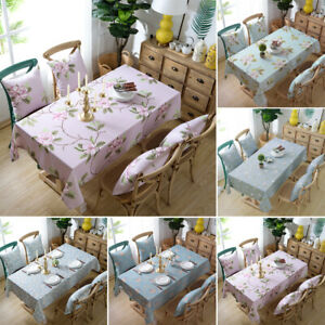 Tablecloth Floral Print Table Covers Waterproof Cloth Kitchen Dining Table Decor Ebay