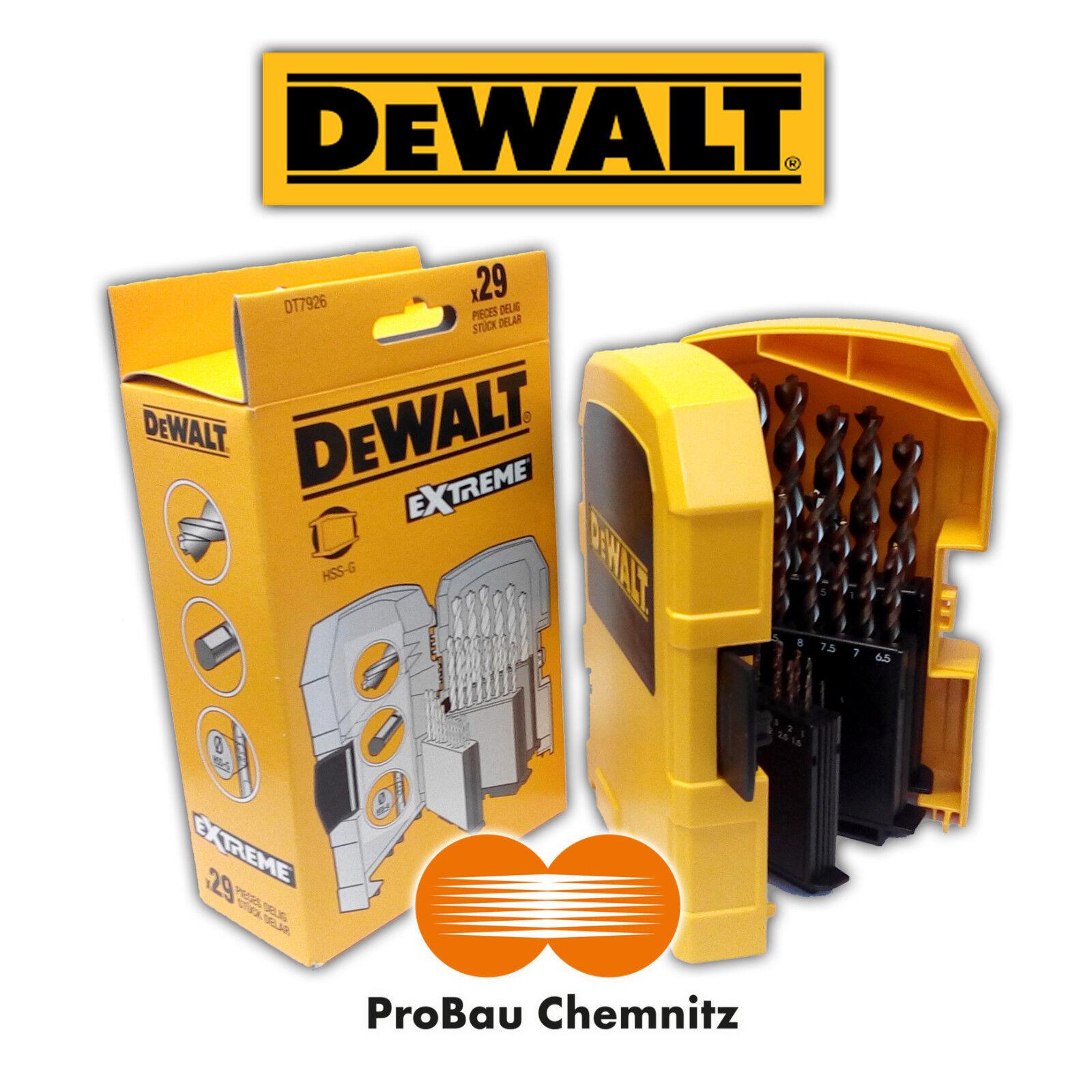 DeWALT HSS-G Metallbohrer Kassette EXTREME 2, 29-tlg. Ø 1 - 13mm, DT7926 DT 7926