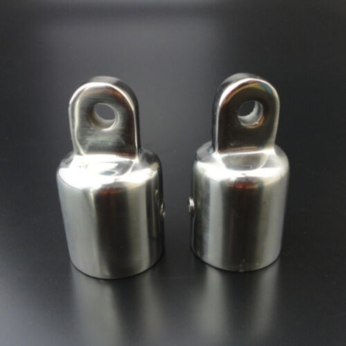 2PCS Bimini Top Eye End Cap Fit 7//8/'/' Stainless Steel 316 Polished Accessories