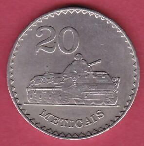 R-MOZAMBIQUE-20-METICAIS-1980-MILITARY-TANK-UNC-DETAILS