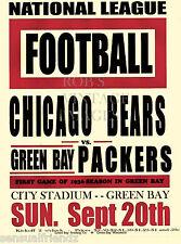 Chicago Bears Vs Green Bay Packers  Poster 1936 NFL Vintage NFL Football  print