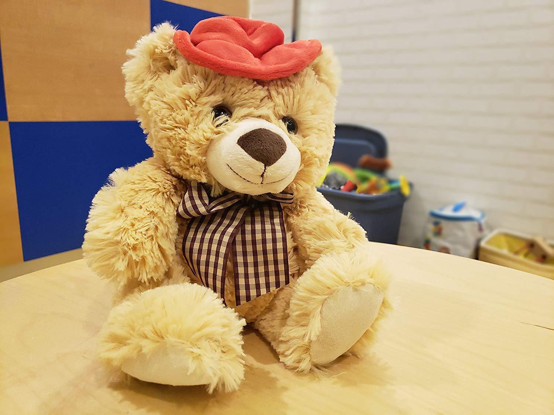Ivation TeddyHear Wireless Bluetooth Dual Speaker Plush Teddy Bear Soft/&Cuddly!