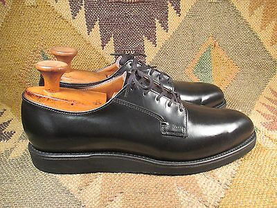 Efficiente Red Wing Postman 0101 Pelle Nero Union Made Oxford Taglia 10 Aaa Made In Usa