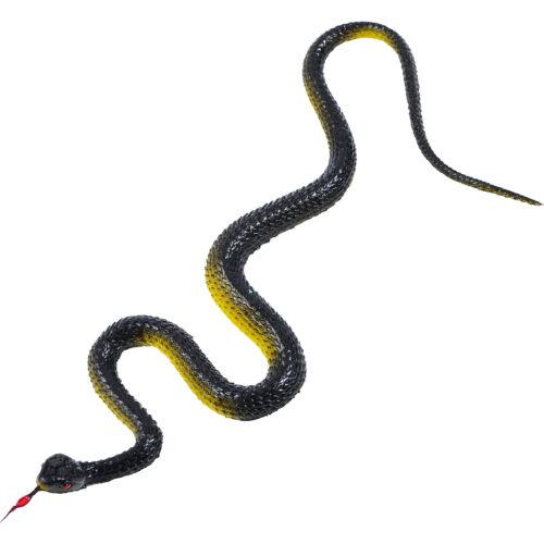 2 X Rubber Fake SNAKE Safari Garden Joke Prank Gift Soft Snake Halloween GAG