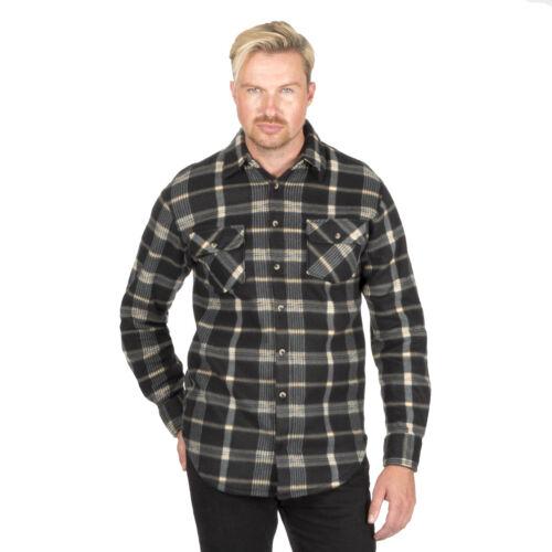 Mens Check Fleece Lumberjack Warm Winter Gents Casual Work Shirt Warm Brushed