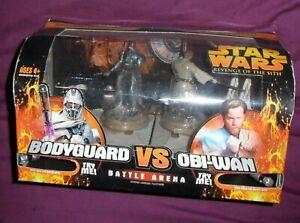 Hasbro Star Wars Revenge Of The Sith Grievous Bodyguard Vs Obi Wan Battle Arena Ebay