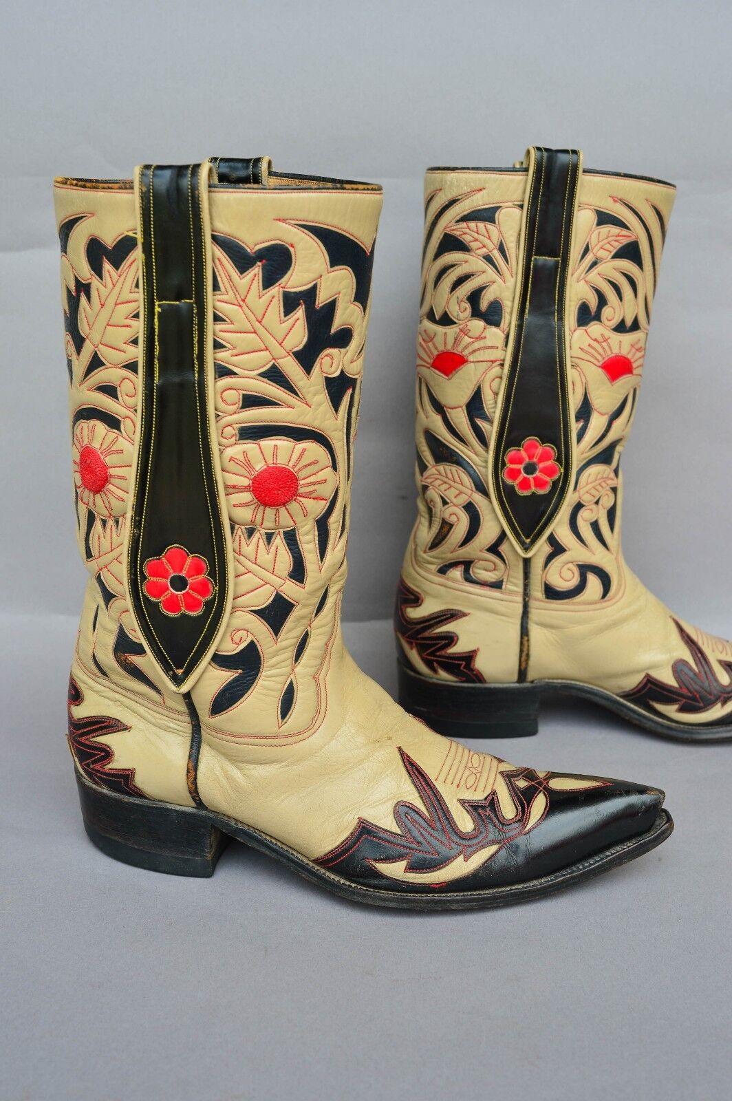 GORGEOUS Vintage Mule Ears Ears Mule Custom Handmade Größe 9.5 D Men Western Cowboy Stiefel d2c96f