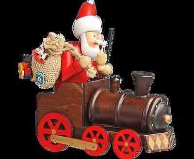 """Heiligabend Räuchermännchen /""""Weihnachtsmann mit Lokomotive// Zug /"""" Weihnachten"""