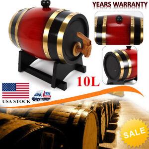 Wine Wood Barrel 10l Oak Barrel Spirits Or Whiskey Storage With