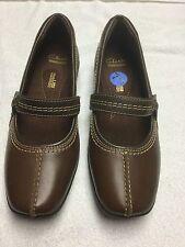 Clarks Haydn Womens Shoes Mary Jane Sandal Brown 7.5 Medium NEW