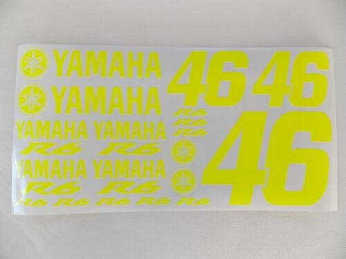 46-YAMAHA r6 Set 19 Pezzi Giallo Neon-O IN ROSSO-VERDE-ARANCIONE