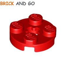 Rot rund flach 2x2 Kreuz Loch neu NEW 10 x LEGO 4032 Platte rund Achse