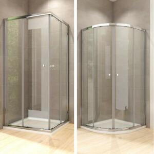 80x80cm Duschkabine Viertelkreis Schiebetür ESG Glas Duschabtrennung Duschtür
