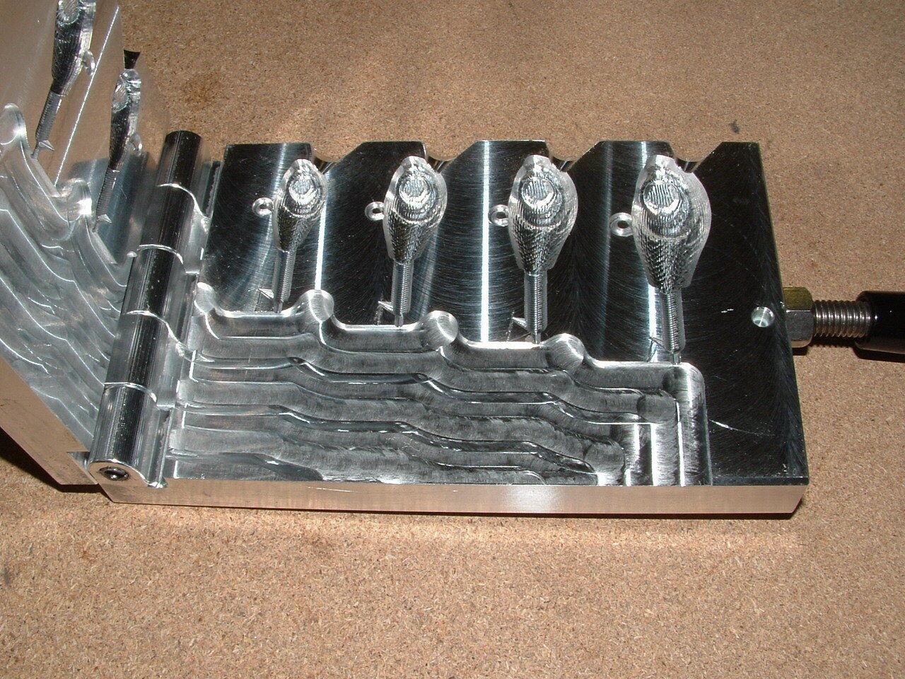 Saltwater Guppy Jig Barbed mold 1,1.5,2,3oz CNC Aluminum