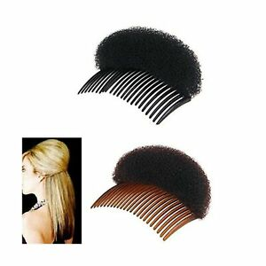 2Pices-1Black-1Brown-Women-Bump-It-Up-Volume-Hair-Base-Styling-Clip-Stick-Bu
