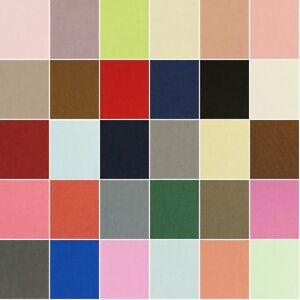 100-Cotton-Canvas-Fabric-Medium-Weight-230gsm-112cm-Wide