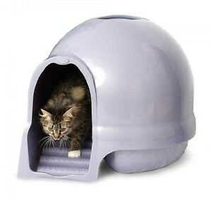 Booda Dome Cleanstep Cat Box Brushed Nickel Covered Litter Dome